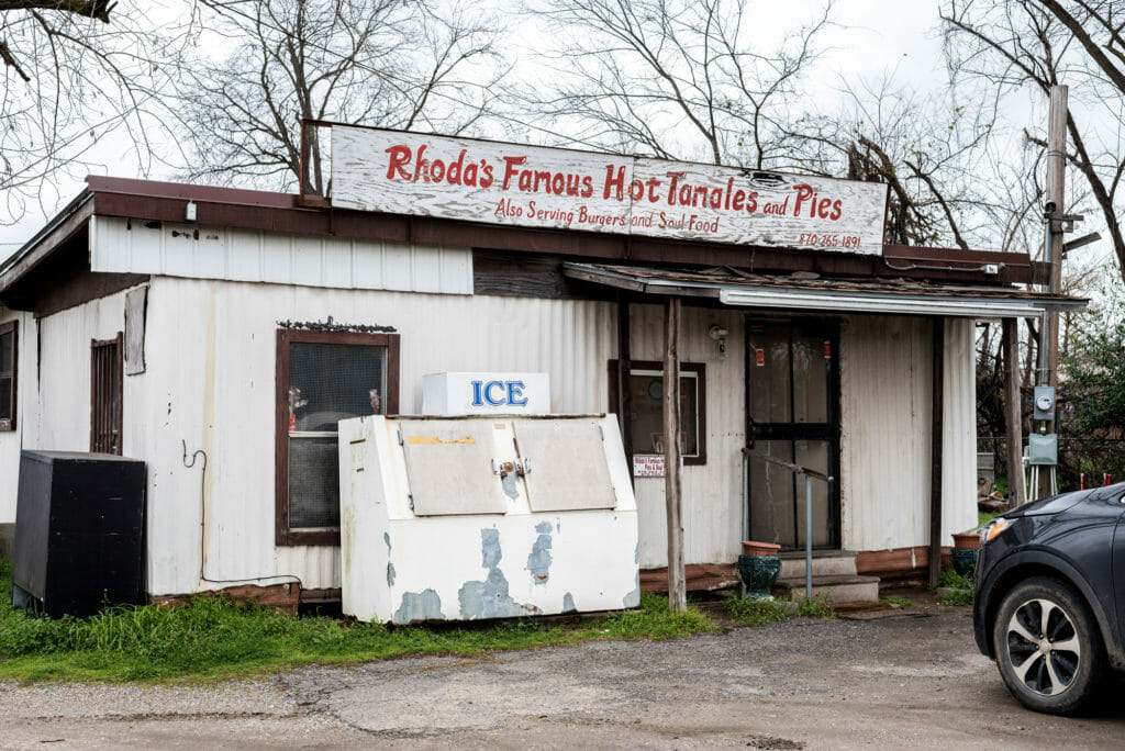 Rhoda's Famous Hot Tamales and Pies. The building might look like a hole in the wall but the tamales are sublime!