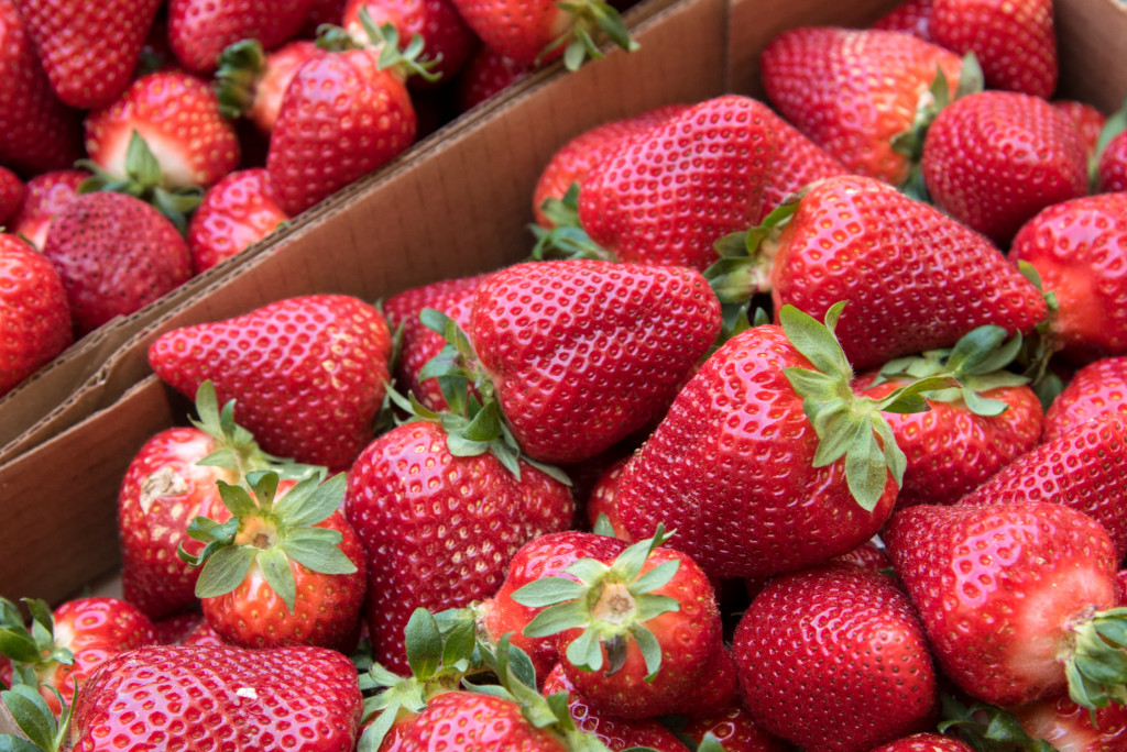 Strawberries from Holland Bottoms Farm in Cabot, Arkansas. A round up of the best strawberry recipes.