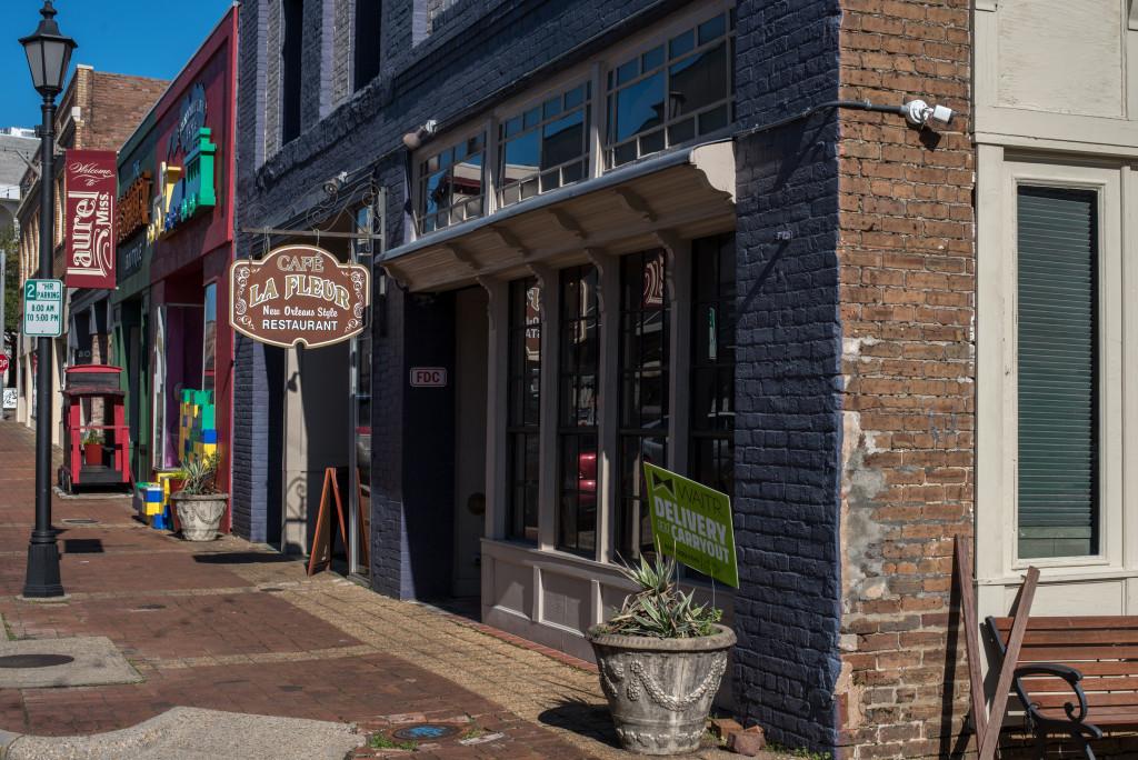 Cafe La Fleur in Laurel, Mississippi. There are many good restaurants in Laurel MS
