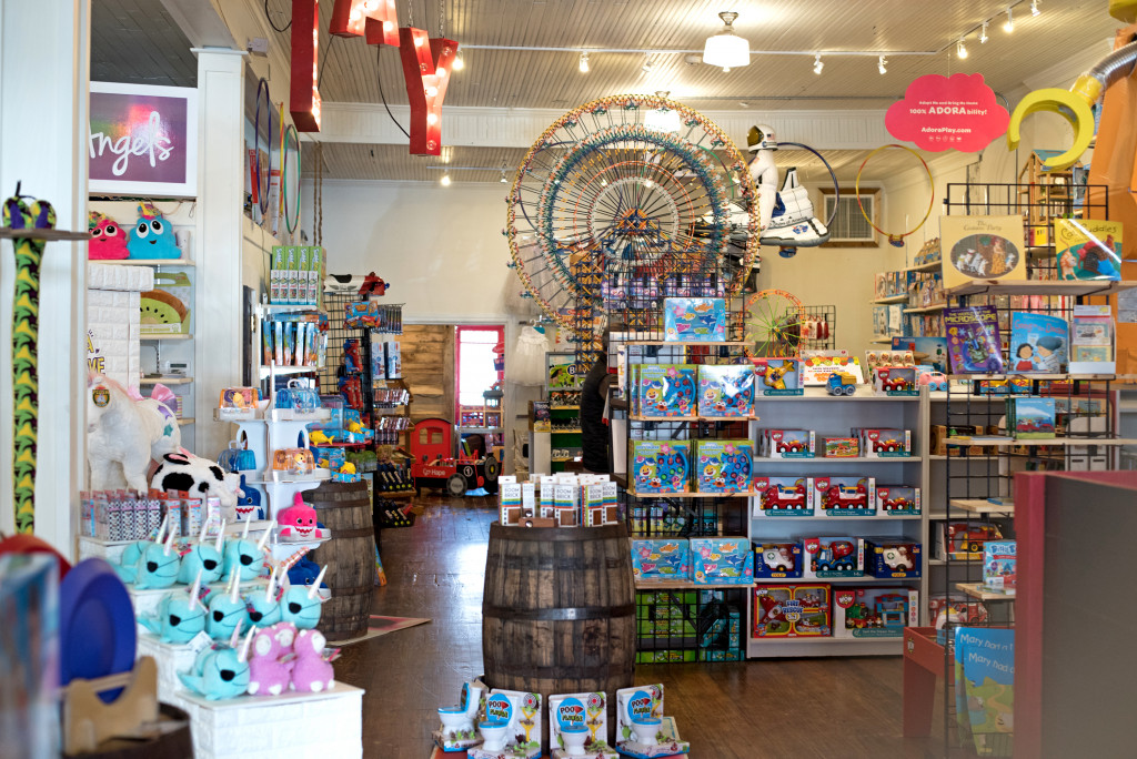 interior of Loblolly which is a fun and high quality toy store.
