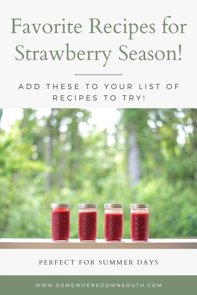 A round up of some of our favorite strawberry recipes. Perfect for the summer.