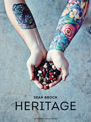 Front cover of the southern cookbook Heritage by Sean Brock. One of the essential southern cookbooks.
