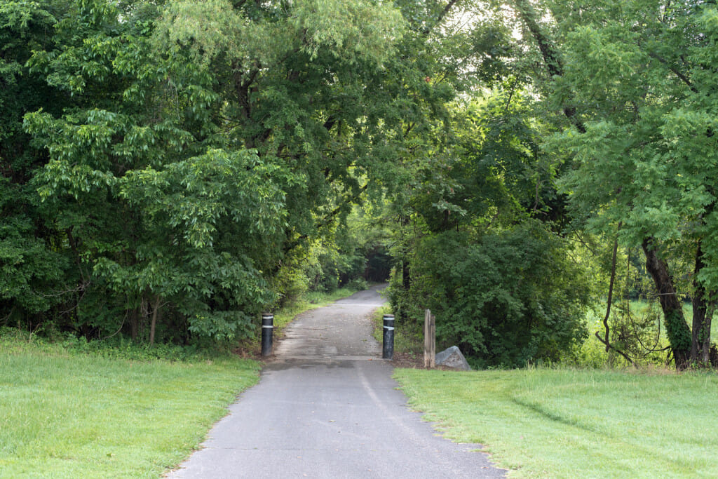 Entrance to trail at two rivers