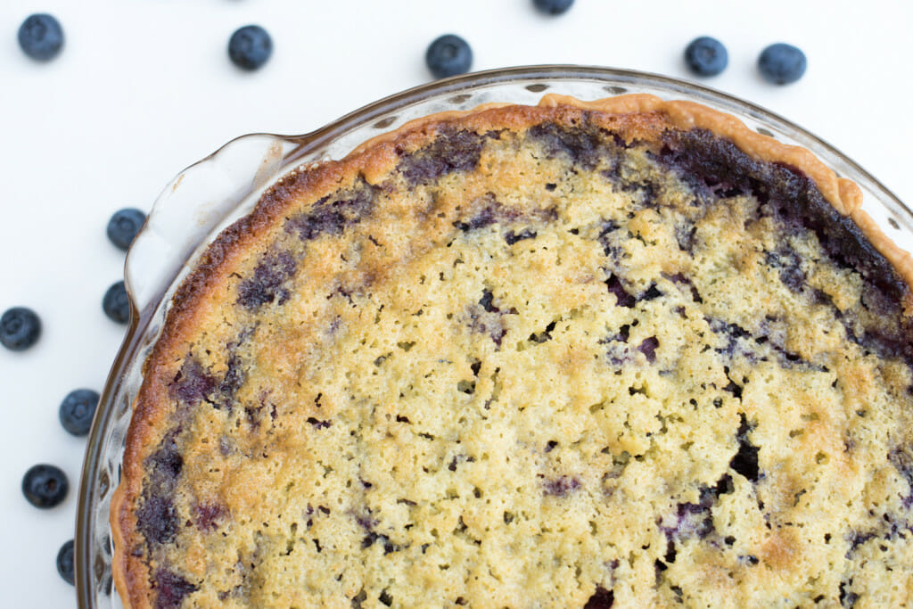 buttermilk blueberry chess pie. A great recipe with blueberries.