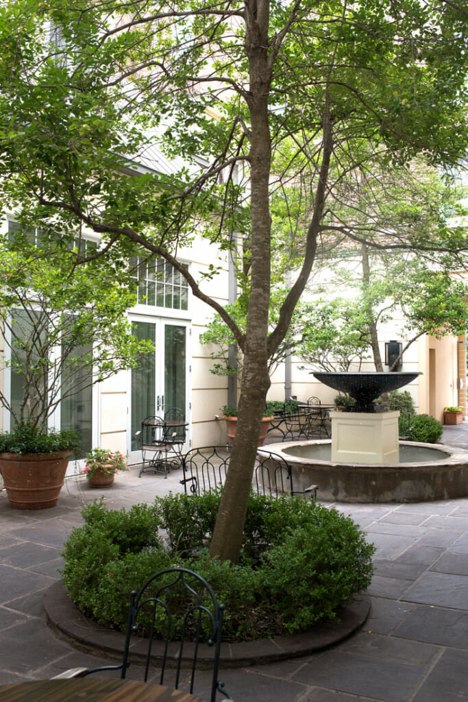 Courtyard of the Alluvian hotel