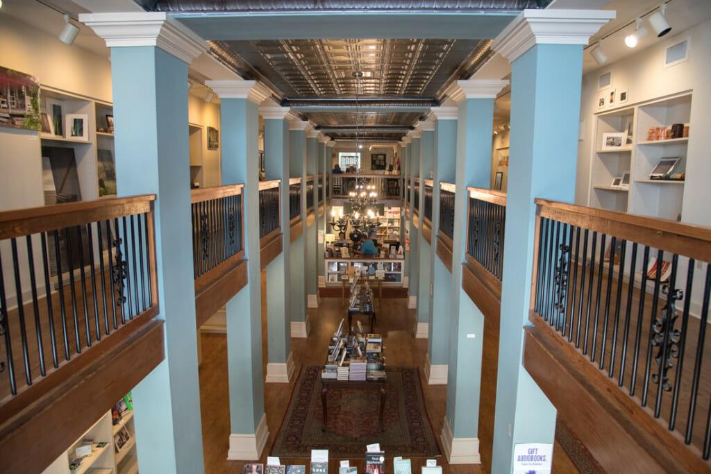 Upper floor of Turnrow bookstore in Greenwood MS