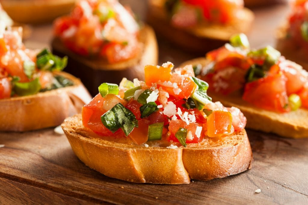 bruschetta with summer tomatoes