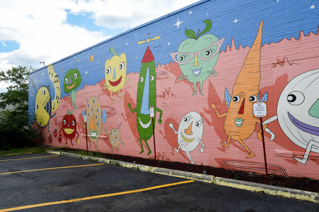 Mural on the side of the Root Cafe in Little Rock, Arkansas