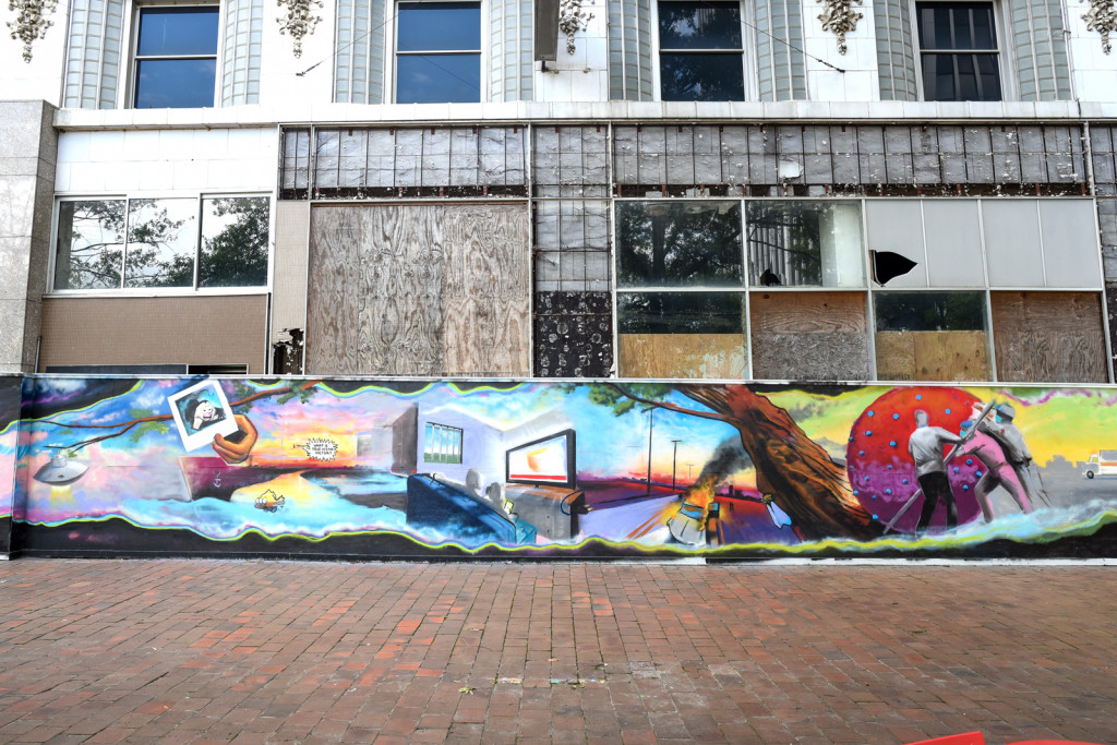 Mural - probably temporary by Guy Bell in downtown little rock