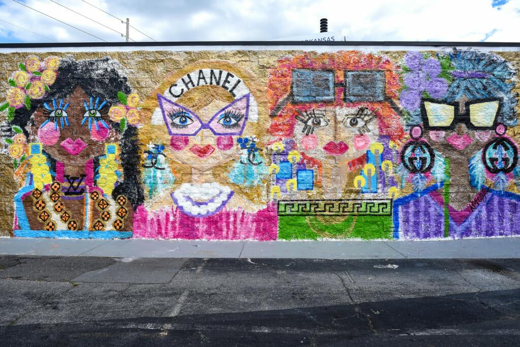 Chanel mural in midtown in little rock, arkansas