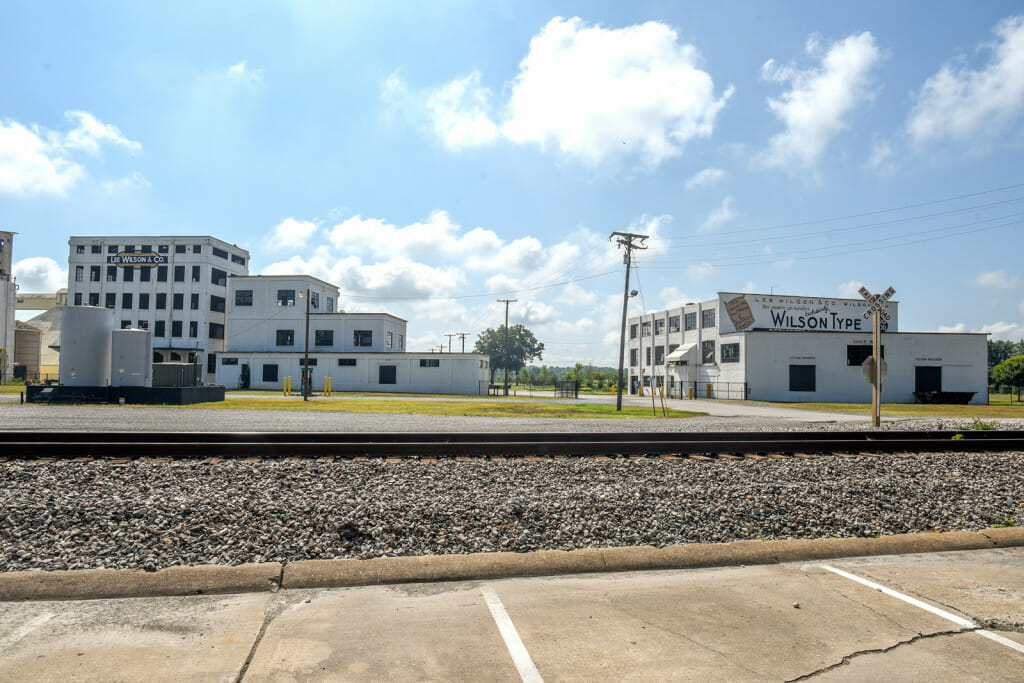 View across the highway. There is hope to turn one of these buildings into another hotel for Wilson.