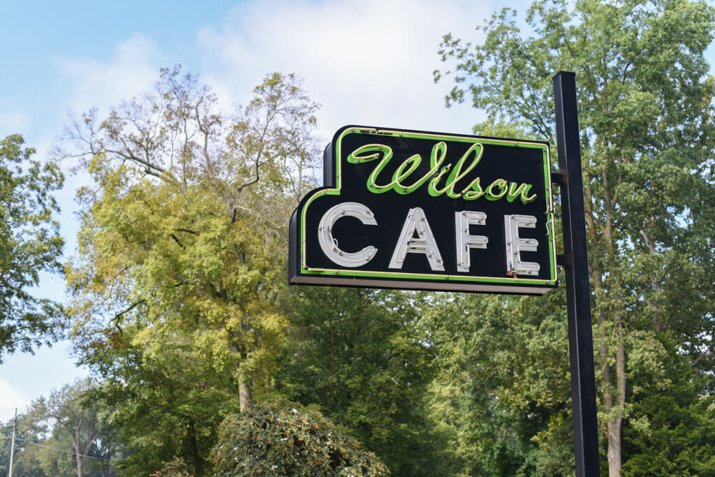 Sign of the Wilson Cafe