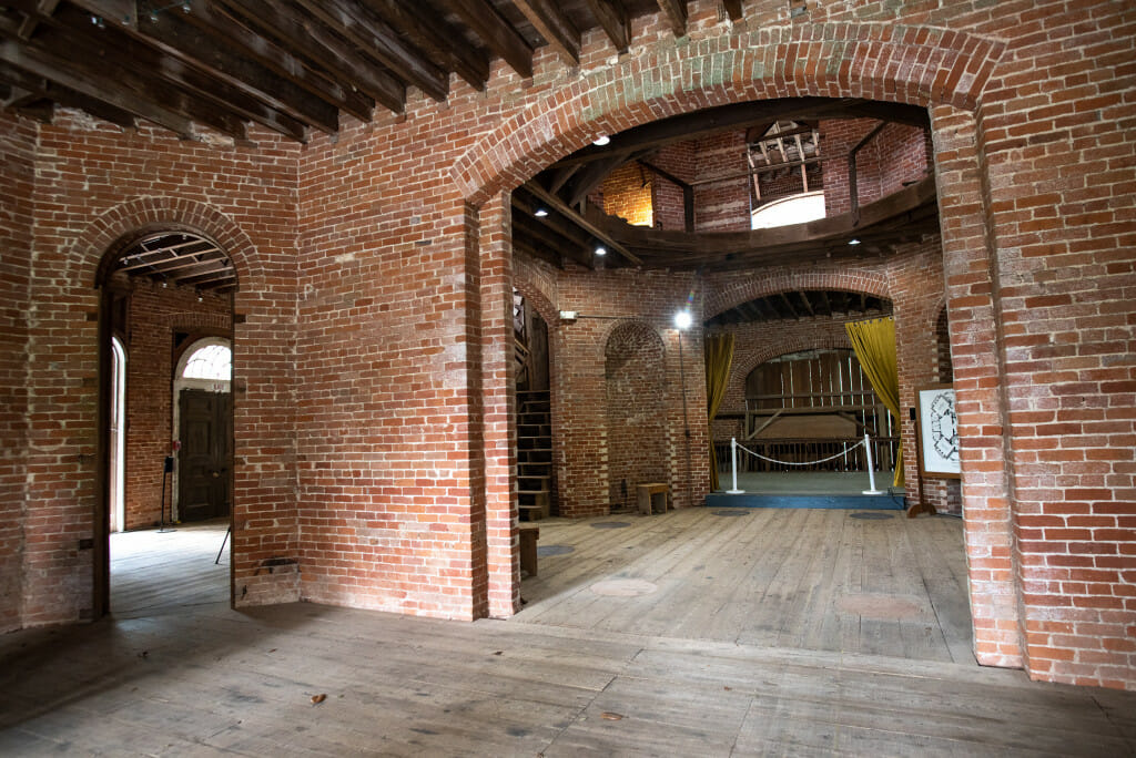 Unfinished interior of Longwood mansion.