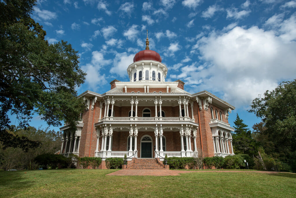 Longwood mansion is one of the most fascinating of the antebellum homes in Natchez Mississippi. It is an octagonal structure that was never completed.
