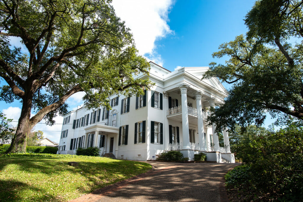 Stanton Hall in Natchez. Stanton Hall is one of the largest of the antebellum houses. It is open year round for tours.