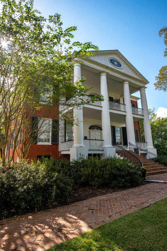 Rosalie Mansion sits on the bluff above the Mississippi River.