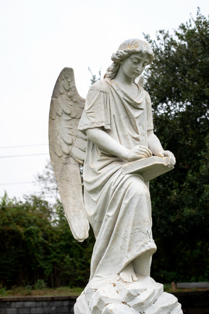 Angel statue at the City cemetery. One of the places to see in Natchez.