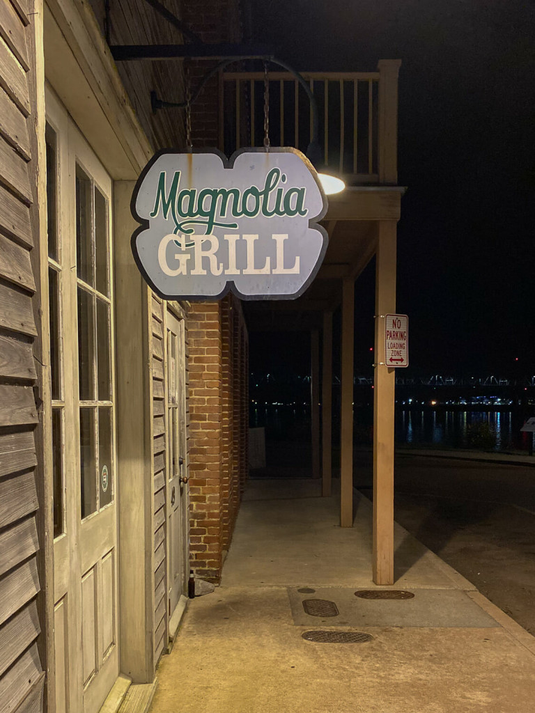 Magnolia grill a great restaurant in Natchez MS