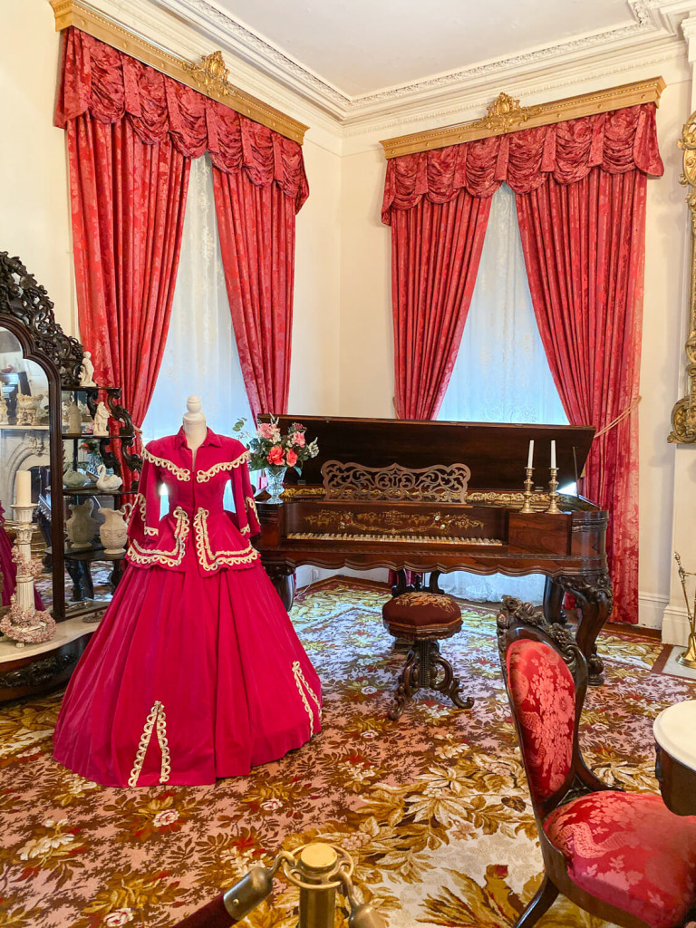 The ladies parlor at Rosalie Mansion in Natchez MS