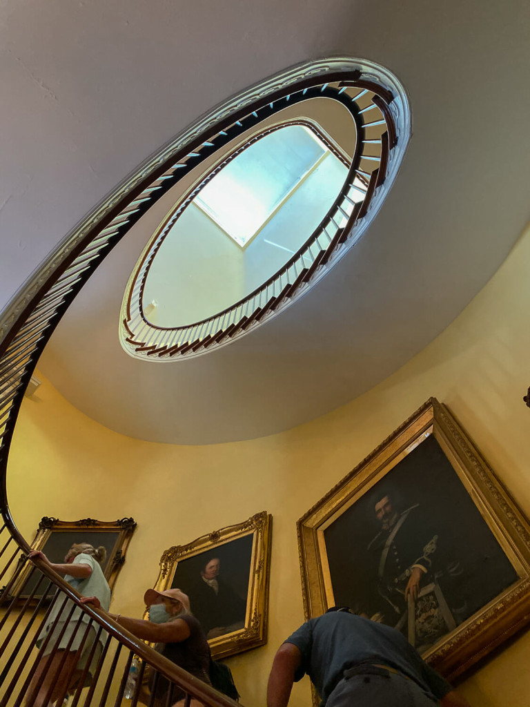 Oval Staircase at Choctaw Hall