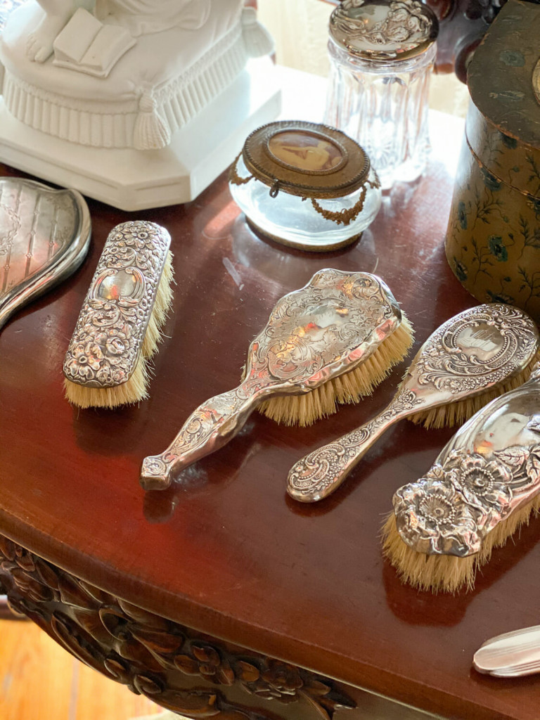 Dressing table items from Choctaw Hall