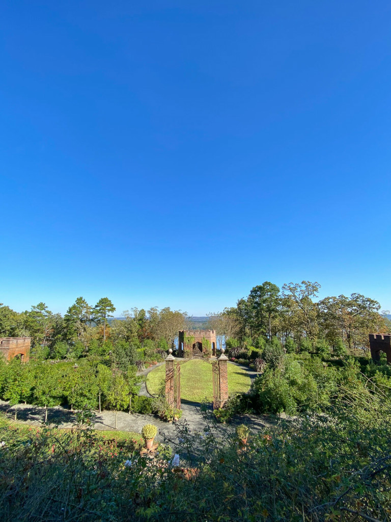 View of the sky, the arkansas river, and gardens
