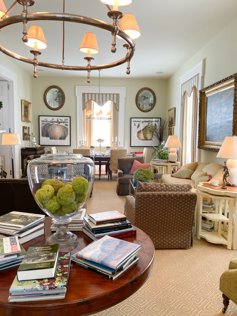 Living area of the P. Allen Smith Home.