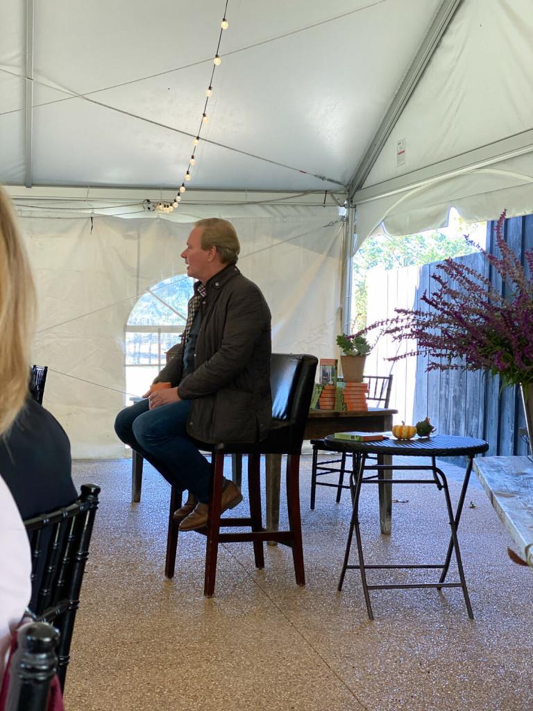 P. Allen Smith speaking at the luncheon
