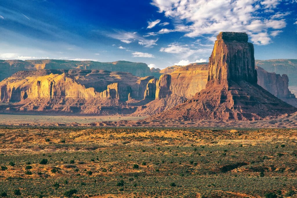 View of the western United States. The hole in the wall gang from the book Outlawed hid in an area like this. Read this book review of Outlawed.