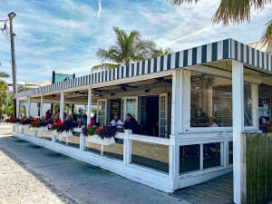 The Waterfront restaurant in Anna Maria Island. This is a cute restaurant across from the City Pier on the island.