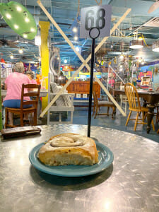 Ginny and Jane E's cafe is one of the best restaurants on Anna Maria Island and they have wonderful cinnamon rolls.