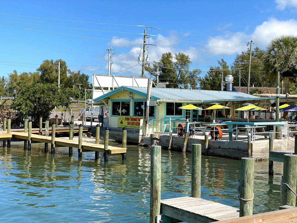 Tide Table restaurant in the village of Cortez near Anna Maria Island