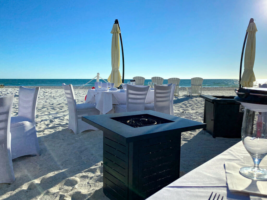 Fine dining with your toes in the sand at the Beach Bistro