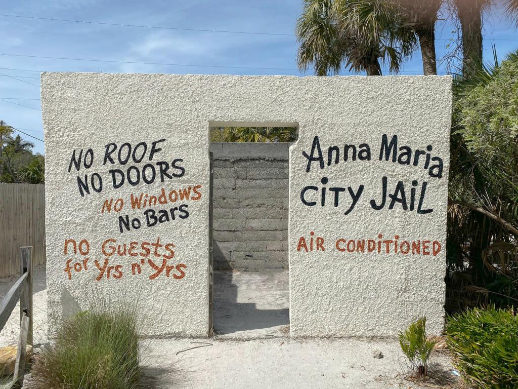 The old Anna Maria Island City Jail.