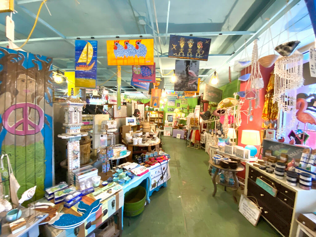 Interior of Ginny and Jane E's store. Shopping on Pine Street.