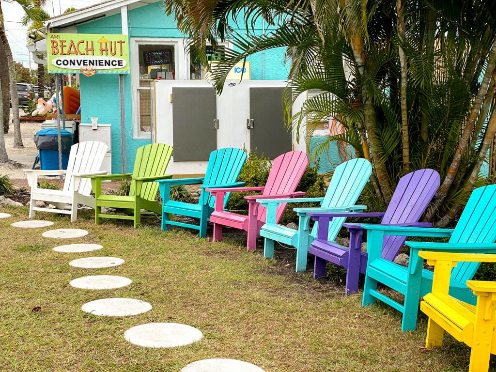 Chairs on Pine Street on Anna Maria Island