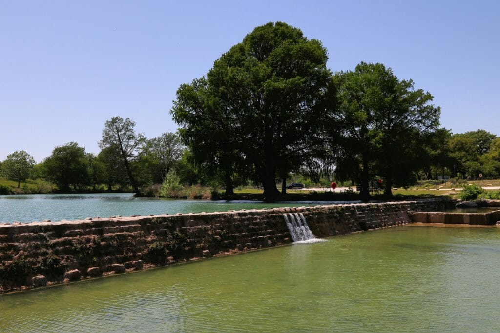 Blanco State Park near Blanco Texas. A small park with a small dam that allows great swimming and relaxing tubing.