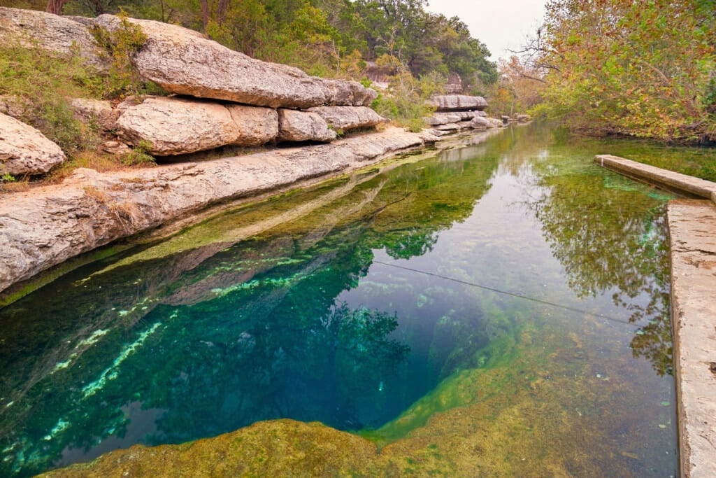Jacob's Well is a unique swimming hole in Wimberley Texas.