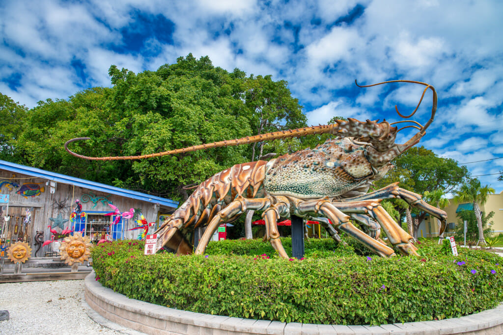 Betsy the lobster is an iconic stop on a Florida Keys Road trip