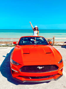 get a convertible to drive on your road trip in the Florida Keys