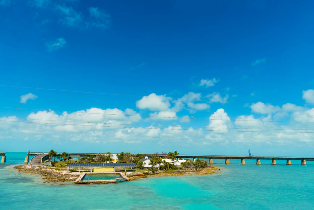 pigeon key and the old bridge in the florida keys