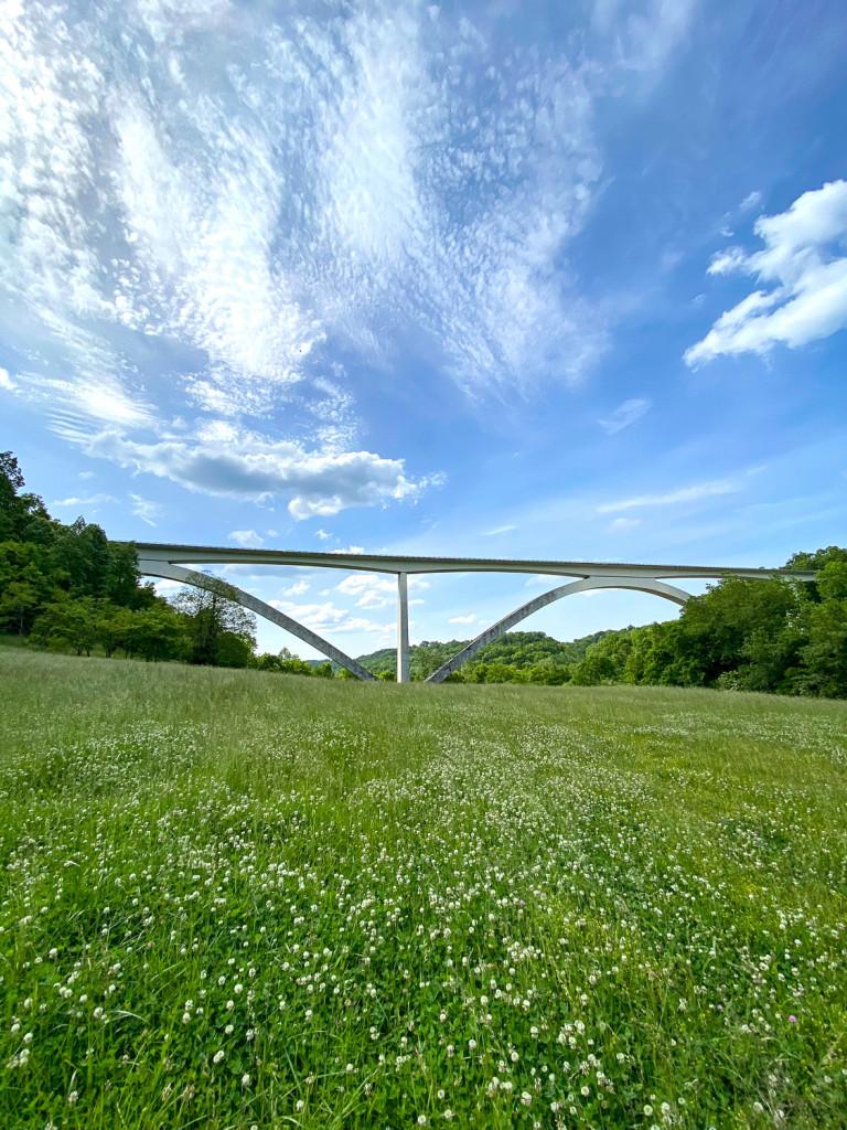 Natchez Trace Parkway Bridge over birdsong hollow near Leiper's Fork.
