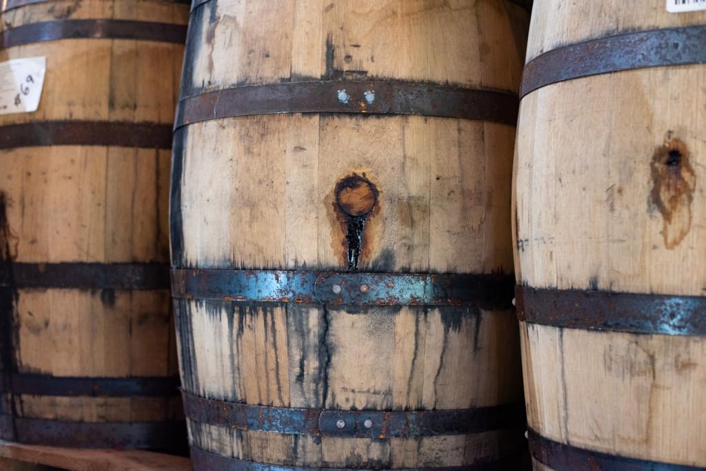 barrels of whiskey