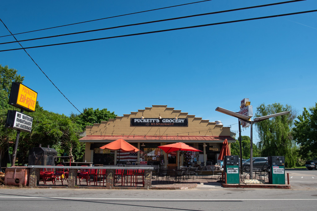 Photo of Puckett's Grocery and Restaurant in Leiper's Fork Tennessee. Great place to eat and listen to live music.