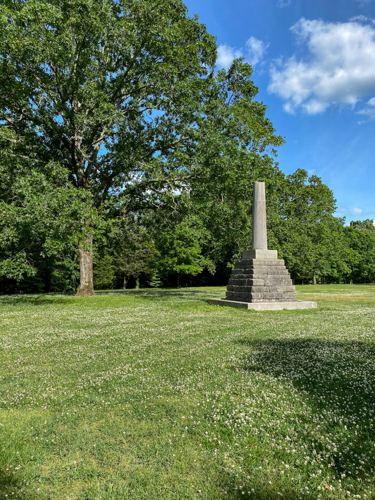 Burial place of Meriwether Lewis on the Natchez Trace