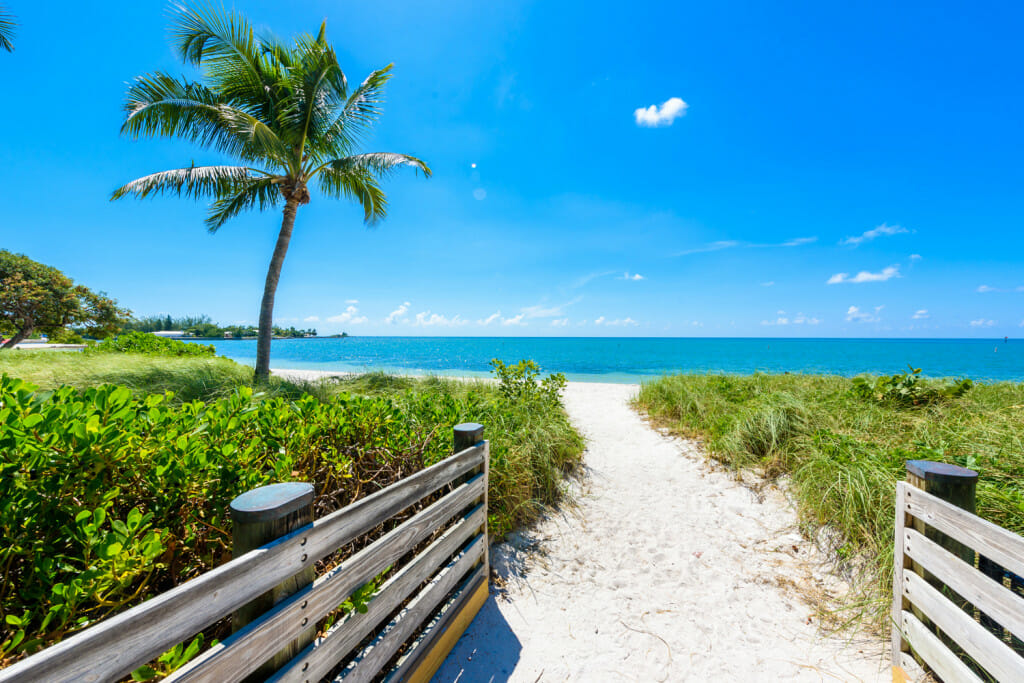 Sombrero beach at Marathon in the Florida Keys