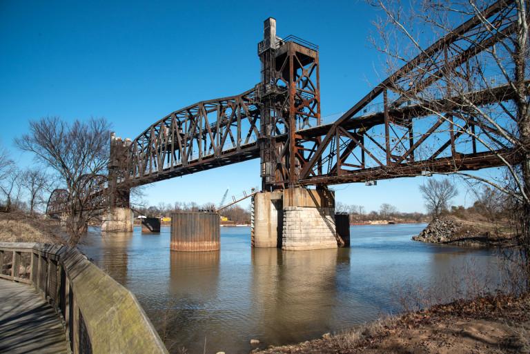 The Big Dam Bridge in Little Rock