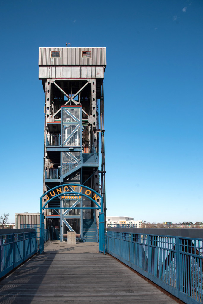 Shot of the Junction Bridge in Little Rock, AR