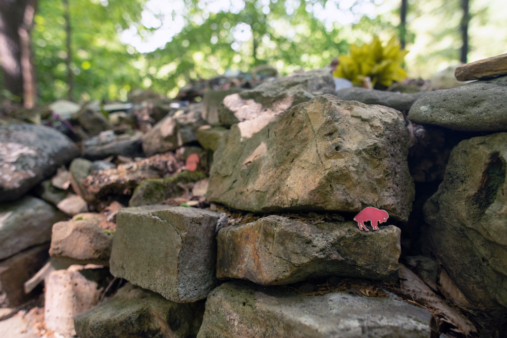 Te-Lah-Nay's Wall, aka Wachahpi Commemorative Stone Wall, aka known as Tom's Wall, was built to commemorate Te-lah-nay's journey back to Alabama. According to Tom's son, Trace, her path back was neither straight nor easy and it took about five years