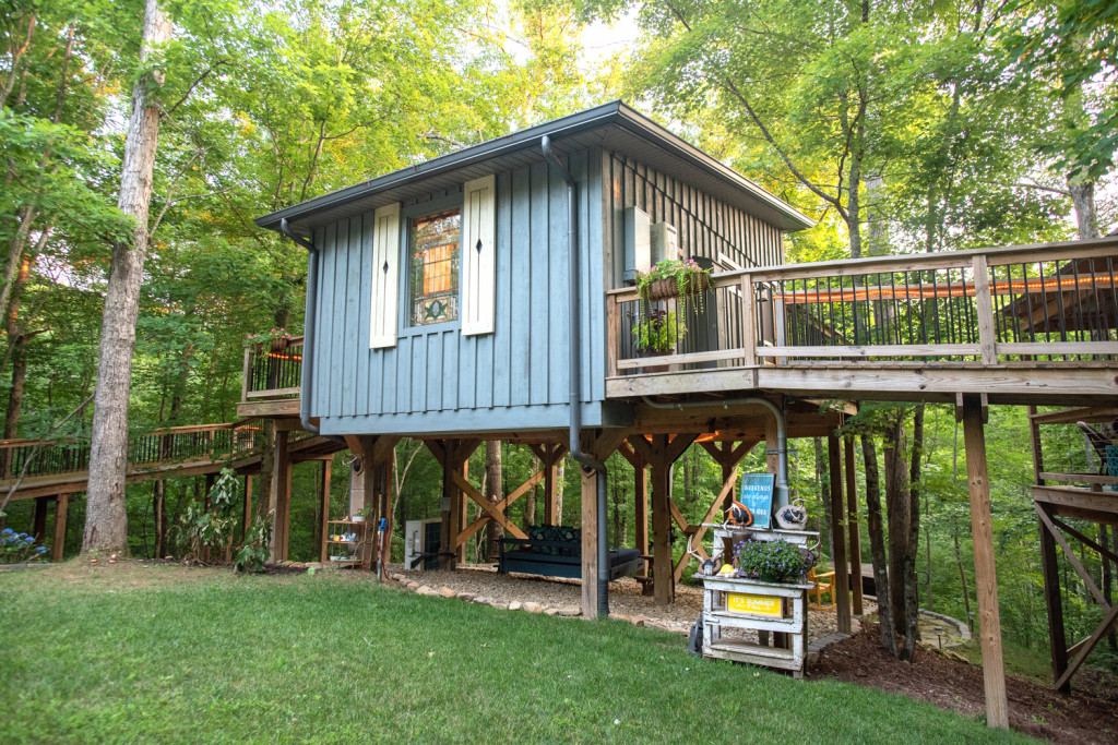 front exterior of the treehouse